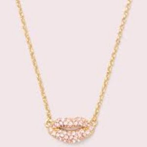 Kate spade lips pave mini pendant necklace